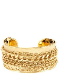 Rivka Friedman 18k Gold Clad Bold Multiple Chain Cuff