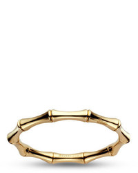 Gucci 18k Yellow Gold Bamboo Bangle Bracelet