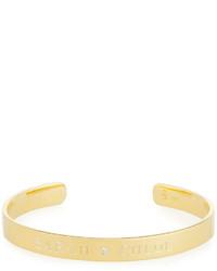 Sarah Chloe 6mm Ciela Duo Name Cuff Bracelet with Diamond CMNq9t