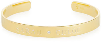 Sarah Chloe 6mm Ciela Duo Name Cuff Bracelet with Diamond dspiDwjUs