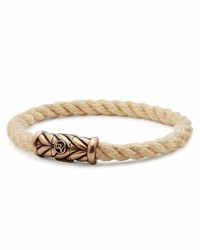 David Yurman 8mm Maritime Rope Bracelet With Bronze
