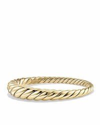 David Yurman 95mm Pure Form Large Cable Bracelet In 18k Gold