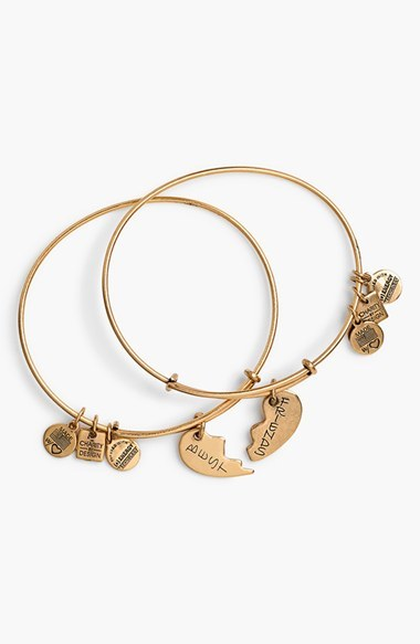 Alex and Ani Charity By Design Best Friends Adjustable Wire Bangles