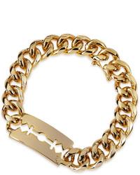 MCQ Alexander Ueen Chunk Chain Large Razor Blade Id Bracelet Golden