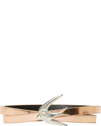 MCQ Alexander Ueen Rose Gold Mini Swallow Wrap Bracelet