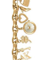 Anne Klein Charm Bracelet Watch Gold