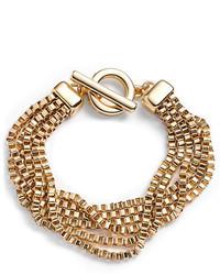 Anne Klein Gold Tone Multi Strand Bracelet