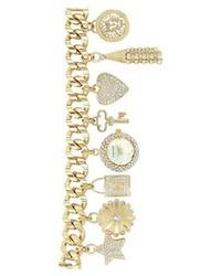 Anne Klein Pave Charm Bracelet Watch 20mm