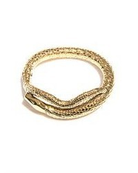 Aurelie Bidermann Tao Gold Plated Snake Bracelet