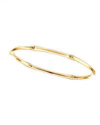 John Hardy Bamboo 18k Gold Slim Bangle Bracelet