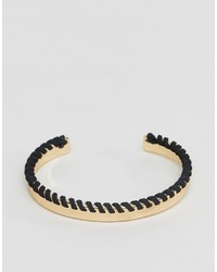 Asos Bangle In Gold With Contrast Whipstitch