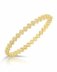 Roberto Coin Barocco Single Row Diamond Bracelet In 18k Yellow Gold