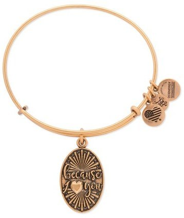 Alex and Ani Because I Love You Adjustable Wire Bangle