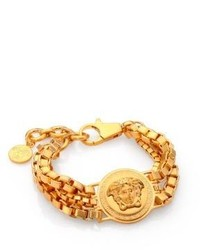 Versace Bijoux Triple Chain Medusa Bracelet