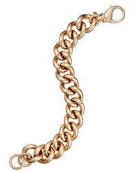 Bronzarte 18k Rose Gold Over Bronze Bracelet Curb Chain Bracelet
