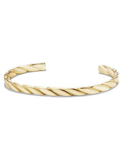 daa1449327ea ... David Yurman Cable Classics 18k Gold Cuff Bracelet ...