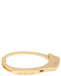 Cast Of Vices Handcuff 14k Gold Plated Bracelet