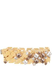 Lanvin Chain Lumiere Crystal Embellished Bracelet