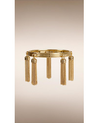 Burberry Chain Tassel Detail Brass Bracelet