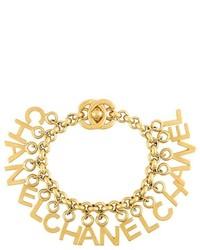 Chanel Vintage Alphabet Charm Bracelet