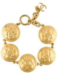 Chanel Vintage Quilted Button Bracelet