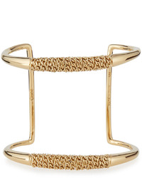 Chloé Chloe Chain Wrapped Open Cuff Bracelet