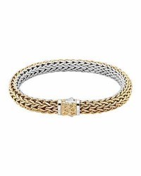 John Hardy Classic Chain Medium Reversible Silver Gold Bracelet