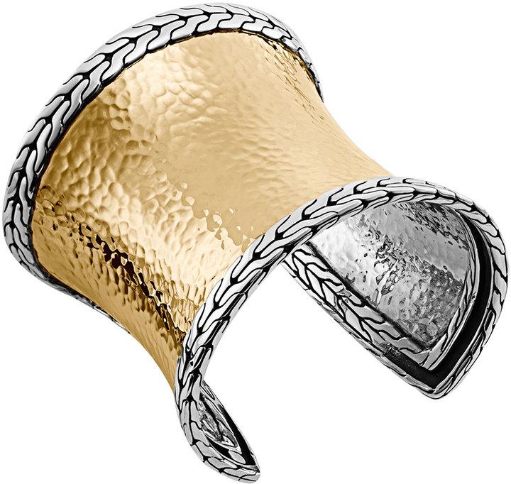 Bracelets John Hardy Clic Chain Palu Silver Gold Wide Cuff