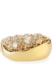 Alexis Bittar Crystal Cluster Large Hinge Bracelet