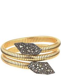 Alexis Bittar Crystal Coiled Bracelet Golden