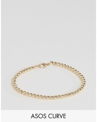 Asos Curve Curve Stretch Ball Chain Bracelet