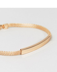 Designb London Designb Chain Id Bracelet In Gold To Asos
