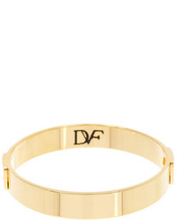 Diane von Furstenberg Chain Link Accented Solid Bangle