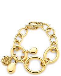 Diane von Furstenberg Gold Charm Link Toggle Bracelet