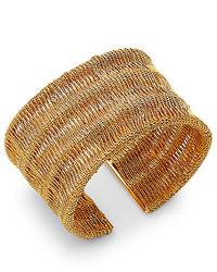 Diane von Furstenberg Thea Mesh Wide Cuff Bracelet