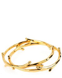 Diane von Furstenberg Twig Bangle Gold Bracelet Set