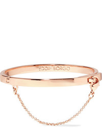 Eddie Borgo Safety Chain Rose Gold Plated Bracelet One Size