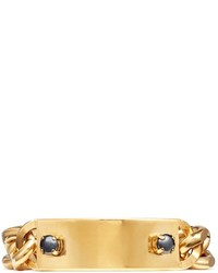 Ela Stone Heidi Metal Plate Curb Chain Bracelet