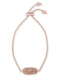 Kendra Scott Elaina Statet Bracelet In Rose Gold Plate