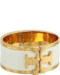 Tory Burch Enamel Raised Logo Wide Cuff Bracelet Bracelet