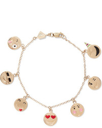 Alison Lou Enameled 14 Karat Gold Bracelet