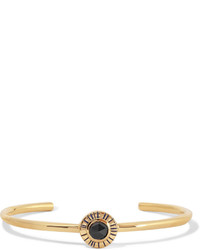 Elizabeth and James Erro Gold Tone Stone Cuff