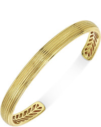 Esquire Jewelry Textured Cuff Bracelet In 10k Gold Created For Macys