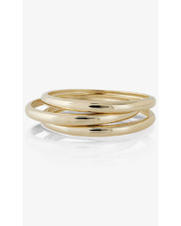Express Curved Metal Bangle Bracelet Set