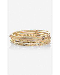 Express Hammered Metal Bangle Bracelets