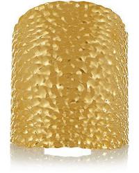 Fendi Textured Gold Plated Cuff