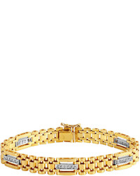 jcpenney Fine Jewelry 12 Ct Tw Diamond 10k Gold Chain Link Bracelet