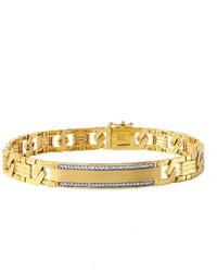 jcpenney Fine Jewelry 16 Ct Tw Diamond 10k Gold Link Bracelet