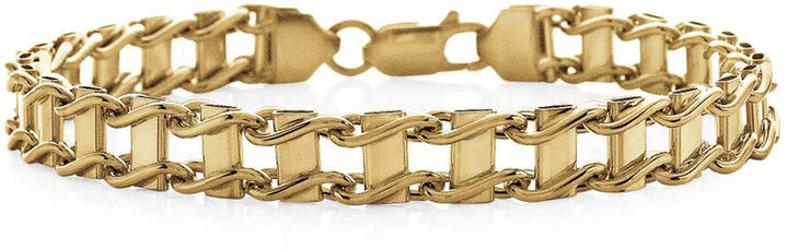 Fine Jewelry Made In Italy 10k Yellow Gold Railroad Bracelet Where
