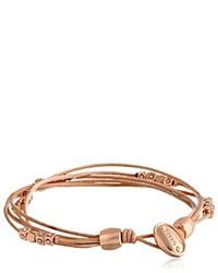 Fossil Multi Strand Leather Wrist Wrap Bracelet